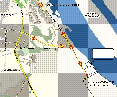 Схема проезда на АБЗ :